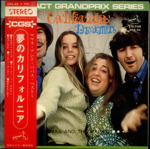 "The Mama's And The Papa's California Dreamin' 7"" vinyl single (7 inch record) Japanese M&P07CA544778"