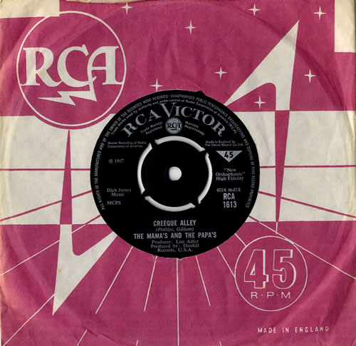 """The Mama's And The Papa's Creeque Alley 7"""" vinyl single (7 inch record) UK M&P07CR550749"""