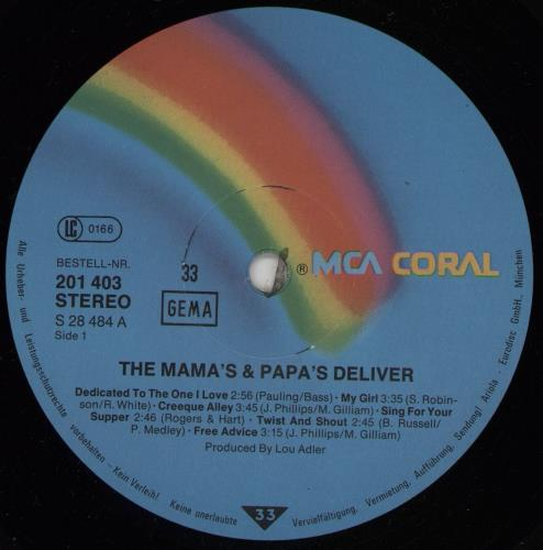 The Mama's And The Papa's The Mama's & Papa's Deliver vinyl LP album (LP record) German M&PLPTH231471