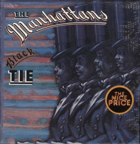 The Manhattans Black Tie - shrink vinyl LP album (LP record) US MH7LPBL749042