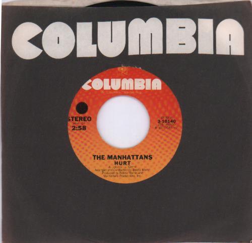 "The Manhattans Hurt 7"" vinyl single (7 inch record) US MH707HU681089"