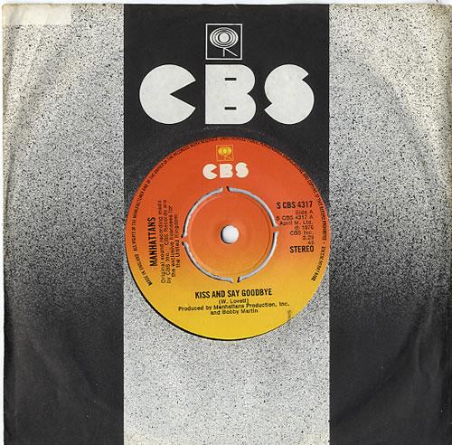"The Manhattans Kiss And Say Goodbye - 4pr 7"" vinyl single (7 inch record) UK MH707KI610337"