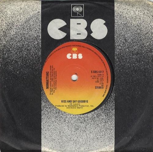 "The Manhattans Kiss And Say Goodbye - Solid 7"" vinyl single (7 inch record) UK MH707KI325565"
