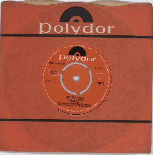 "The Marbles (60s) Only One Woman - 3 Prong 7"" vinyl single (7 inch record) UK MRZ07ON569655"