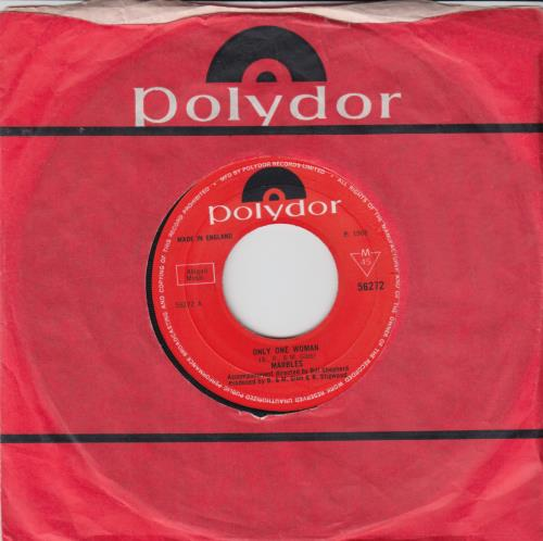 """The Marbles (60s) Only One Woman 7"""" vinyl single (7 inch record) UK MRZ07ON317510"""