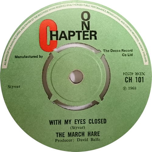 "The March Hare Cry My Heart 7"" vinyl single (7 inch record) UK UJK07CR610390"