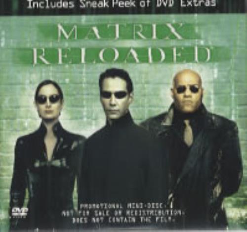 The Matrix Matrix Reloaded Us Promo Dvd 305433