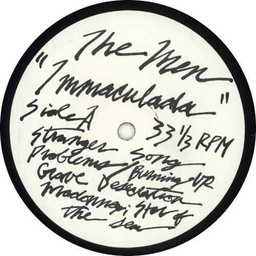 The Men (US) Immaculada + Insert vinyl LP album (LP record) US YRULPIM691106