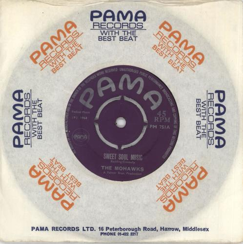"The Mohawks Sweet Soul Music 7"" vinyl single (7 inch record) UK TKW07SW720917"
