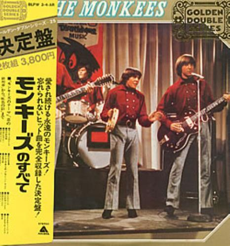 The Monkees The Monkees Golden Double Series 2-LP vinyl record set (Double Album) Japanese MKE2LTH234683