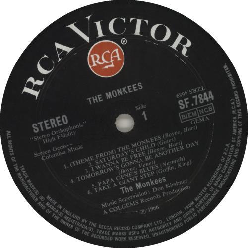 The Monkees The Monkees vinyl LP album (LP record) UK MKELPTH579423