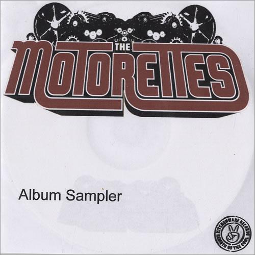 The Motorettes The Motorettes - Album Sampler CD-R acetate UK MO5CRTH477741