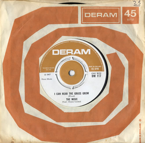 """The Move I Can Hear The Grass Grow 7"""" vinyl single (7 inch record) UK MOV07IC596507"""