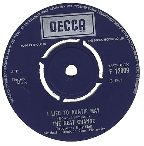 """The Neat Change I Lied To Auntie May 7"""" vinyl single (7 inch record) UK NEC07IL394844"""