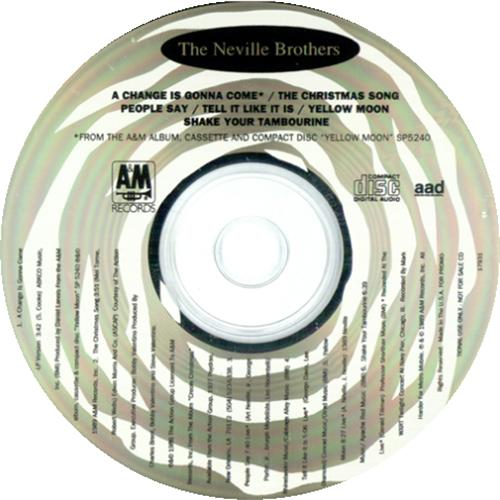 "The Neville Brothers A Change Is Gonna Come CD single (CD5 / 5"") US NVBC5AC414842"