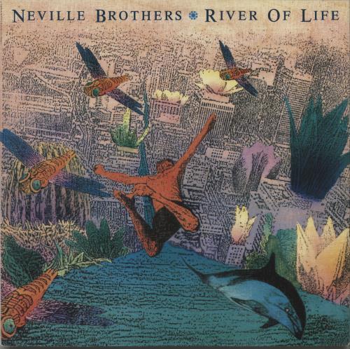 "The Neville Brothers River Of Life 12"" vinyl single (12 inch record / Maxi-single) UK NVB12RI663226"