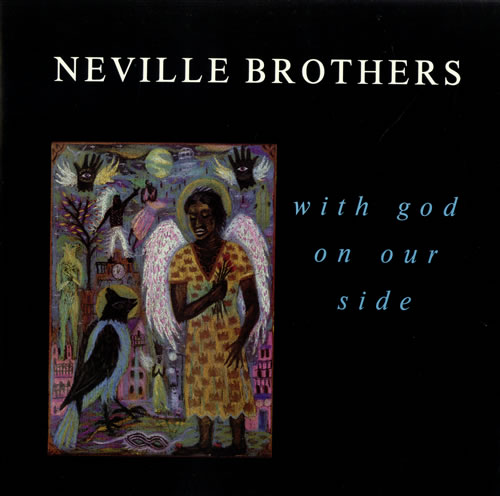 """The Neville Brothers With God On Our Side 12"""" vinyl single (12 inch record / Maxi-single) UK NVB12WI237699"""
