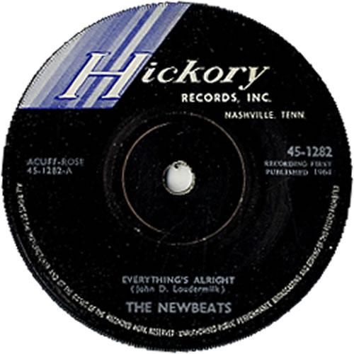 "The Newbeats Everything's Alright 7"" vinyl single (7 inch record) UK NEB07EV627480"