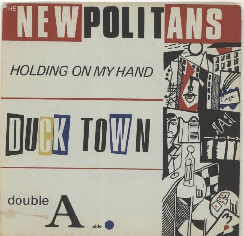 "The Newpolitans Holding On My Hand + Insert 7"" vinyl single (7 inch record) UK YVK07HO693322"