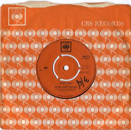 "The New Christy Minstrels Saturday Night 7"" vinyl single (7 inch record) UK NCM07SA614805"