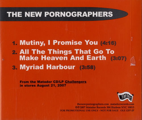 The new pornographers mutiny