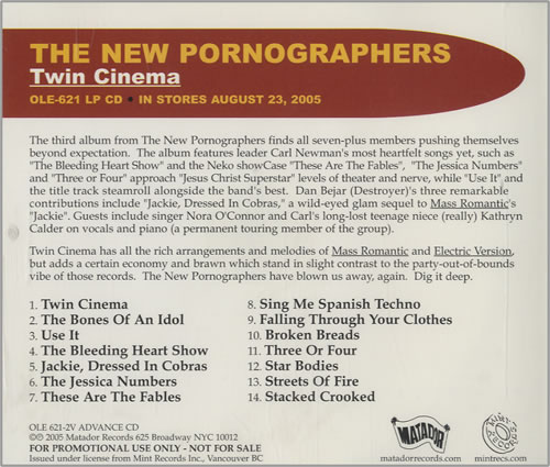 The New Pornographers Twin Cinema