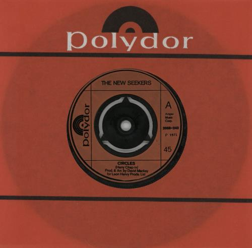 """The New Seekers Circles - Injection Moulded - 3pr 7"""" vinyl single (7 inch record) UK NWK07CI754450"""