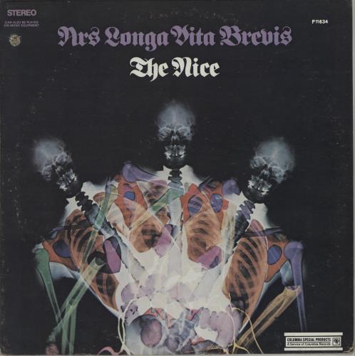 The Nice Ars Longa Vita Brevis - deletion vinyl LP album (LP record) US NCELPAR381773