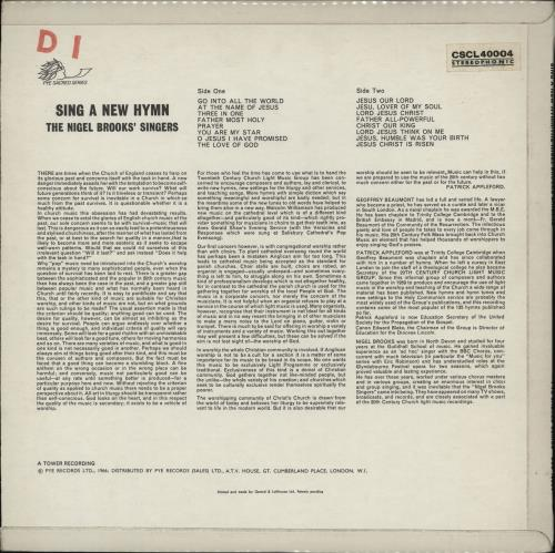 The Nigel Brooks Singers Sing A New Hymn vinyl LP album (LP record) UK 24ELPSI762325