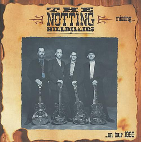 The Notting Hillbillies Missing... On Tour 1990 tour programme UK NOTTRMI194680