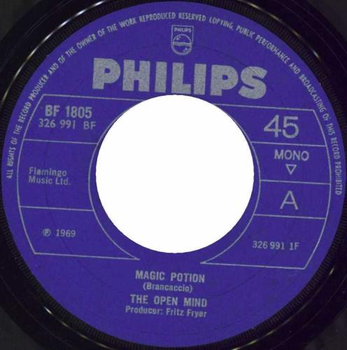 """The Open Mind Magic Potion 7"""" vinyl single (7 inch record) UK OPM07MA511196"""