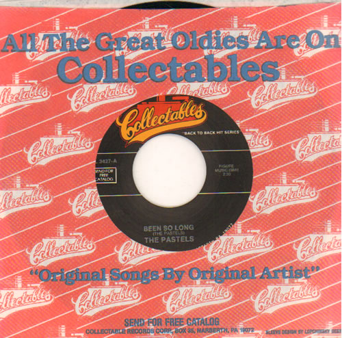 """The Pastels [1950S] Been So Long 7"""" vinyl single (7 inch record) US XQ207BE641462"""
