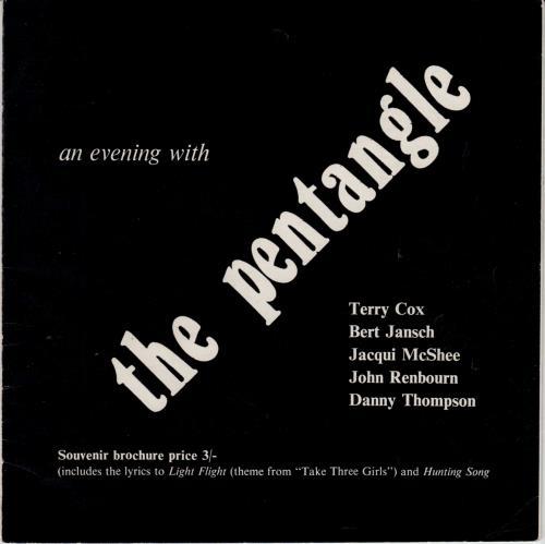 The Pentangle An Evening with Pentangle tour programme UK PNTTRAN758927