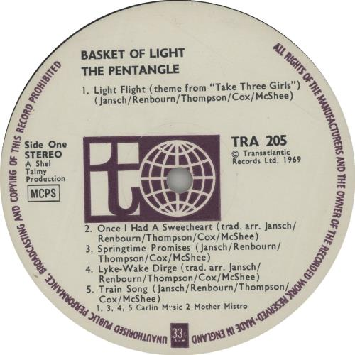 The Pentangle Basket Of Light - 1st vinyl LP album (LP record) UK PNTLPBA263383
