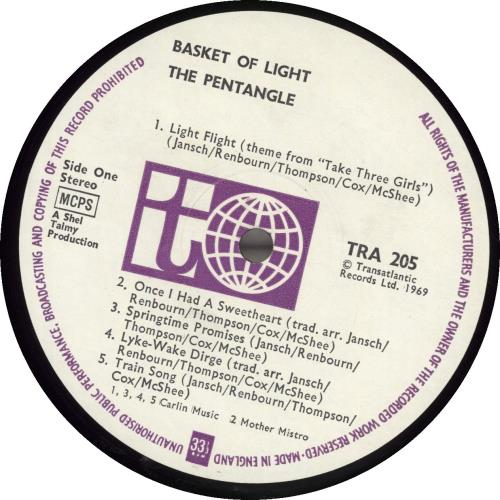 The Pentangle Basket Of Light - 2nd vinyl LP album (LP record) UK PNTLPBA692031