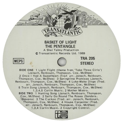 The Pentangle Basket Of Light - 3rd vinyl LP album (LP record) UK PNTLPBA602544