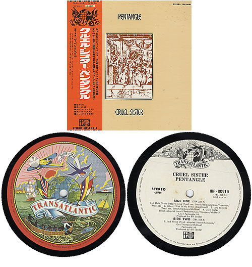 The Pentangle Cruel Sister vinyl LP album (LP record) Japanese PNTLPCR303396