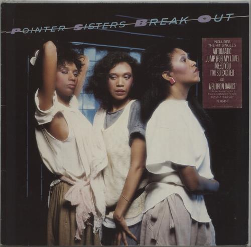 The Pointer Sisters Break Out - square hype sticker vinyl LP album (LP record) German TPSLPBR672424