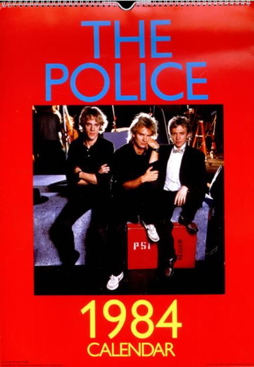 The Police 1984 Calendar Uk Promo Calendar 501390 Calendar