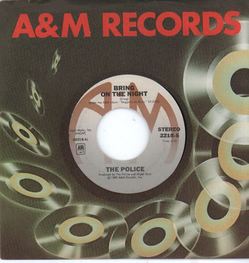 """The Police Bring On The Night 7"""" vinyl single (7 inch record) US POL07BR233593"""