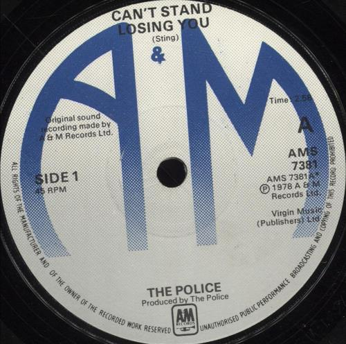 """The Police Can't Stand Losing You - Blue labels  - P/S 7"""" vinyl single (7 inch record) UK POL07CA700047"""