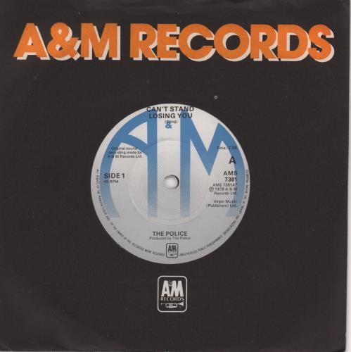 """The Police Can't Stand Losing You - Blue labels 7"""" vinyl single (7 inch record) UK POL07CA575803"""