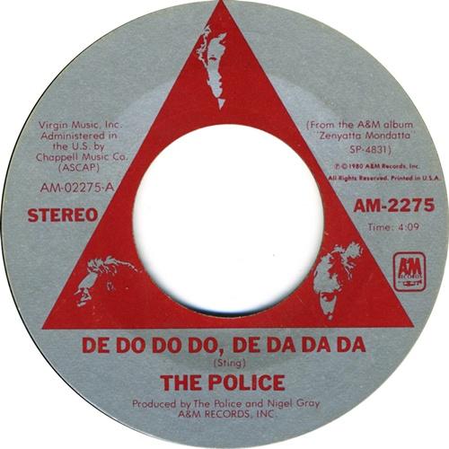 "The Police De Do Do Do, De Da Da Da - 3rd + P/S 7"" vinyl single (7 inch record) US POL07DE500707"