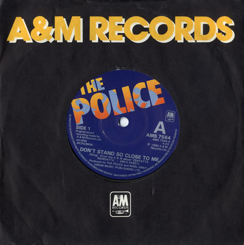 """The Police Don't Stand So Close To Me 7"""" vinyl single (7 inch record) UK POL07DO186902"""