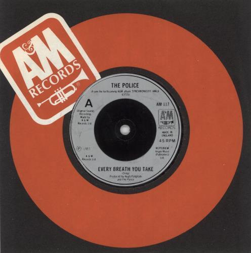 """The Police Every Breath You Take - Inj 7"""" vinyl single (7 inch record) UK POL07EV741962"""