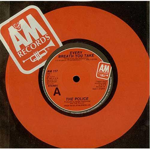 "The Police Every Breath You Take 7"" vinyl single (7 inch record) UK POL07EV407441"