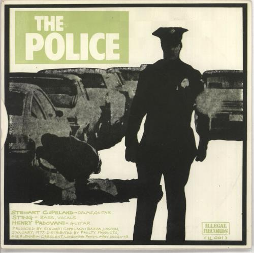 """The Police Fall Out - Green Sleeve 7"""" vinyl single (7 inch record) UK POL07FA47581"""