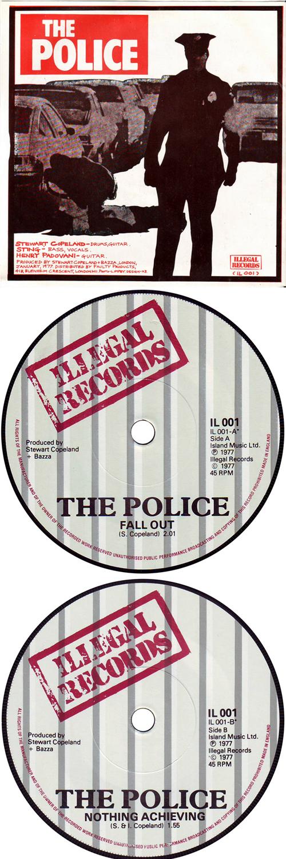 "The Police Fall Out - orange/black sleeve 7"" vinyl single (7 inch record) UK POL07FA161846"
