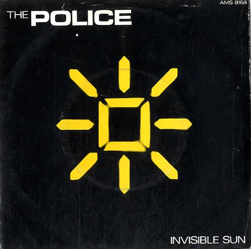 "The Police Invisible Sun - P/S 7"" vinyl single (7 inch record) UK POL07IN23844"