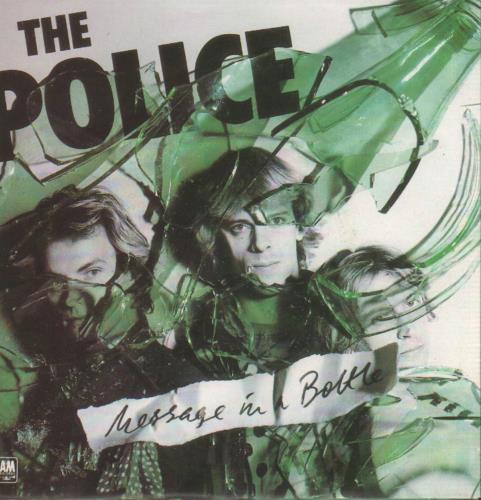 """The Police Message In A Bottle + p/s 7"""" vinyl single (7 inch record) UK POL07ME42035"""